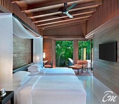 2 Bedroom Park Pool Villa Bedroom - Park Hyatt Maldives