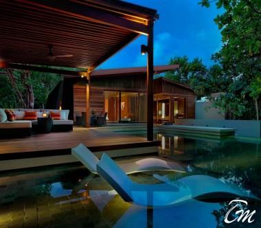 2 Bedroom Park Pool Villa Evening - Park Hyatt Maldives