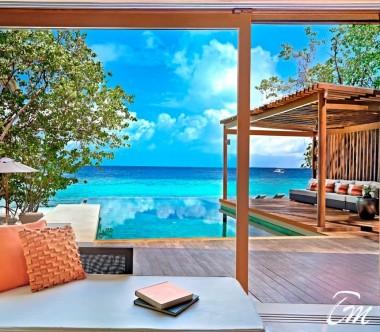Deluxe Park Pool Villa Ocean View- Park Hyatt Maldives Hadahaa