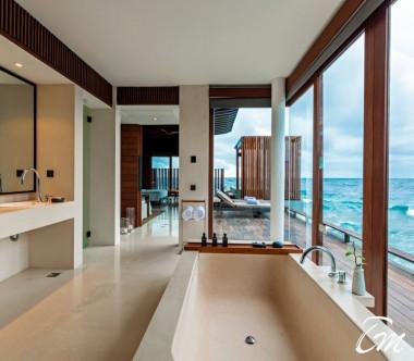Park Sunset Ocean Pool Villa Bathroom - Park Hyatt Maldives