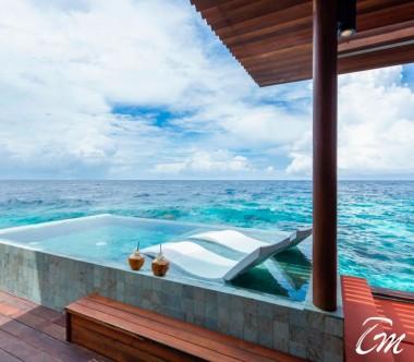 Luxury Park Sunset Ocean Pool Villa Deck- Park Hyatt Maldives