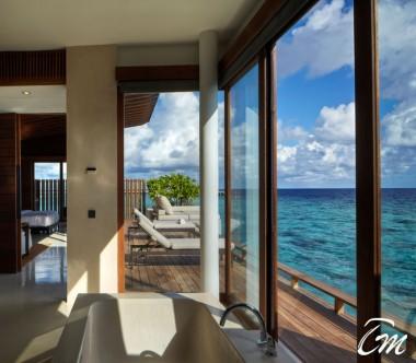 Luxury Park Water Villa Deck - Park Hyatt Maldives Hadahaa