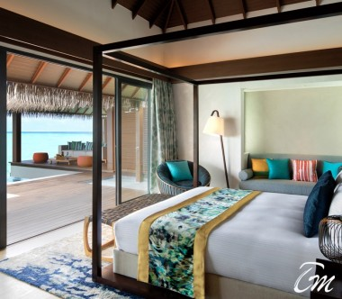 Pullman Maldives Maamutaa Resort 2 Bed Room Ocean Pool Villa Bedroom