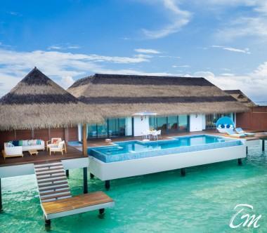 Pullman Maldives Maamutaa Resort 2 Bed Room Ocean Pool Villa Exterior