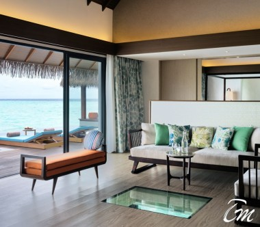 Pullman Maldives Maamutaa Resort 2 Bed Room Ocean Pool Villa Living
