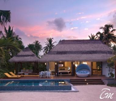 Pullman Maldives Maamutaa Resort Family Pool Villa Exterior