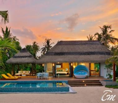 Pullman Maldives Maamutaa Beach Pool Villa Exterior
