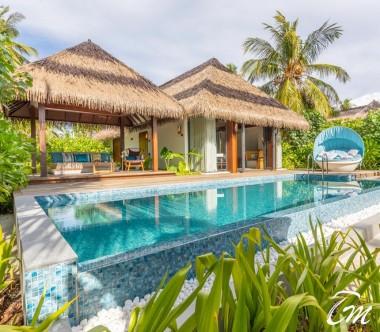 Pullman Maldives Maamutaa Resort Beach Pool Villa - Pool and Cabana