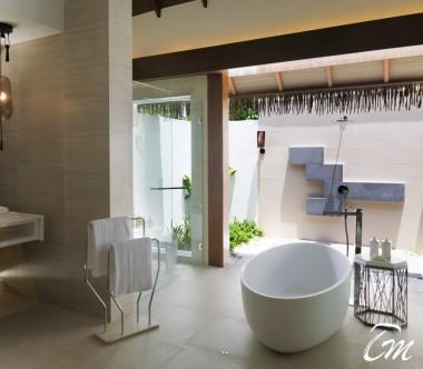 Pullman Maldives Maamutaa Resort Ocean Villa Bathroom