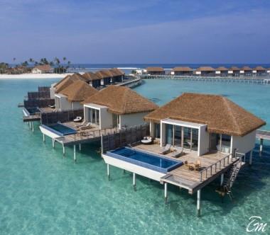 Radisson Blu Resort Maldives Overwater Villa with Private Pool Aerial