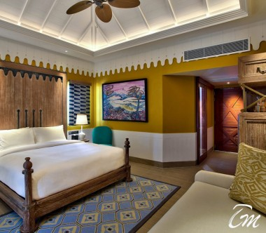 SAii Lagoon Maldives, Curio Collection by Hilton Two Bedroom Beach Villa Bedroom