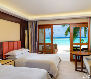 Sheraton Maldives Full Moon Resort and Spa Beach Front Deluxe