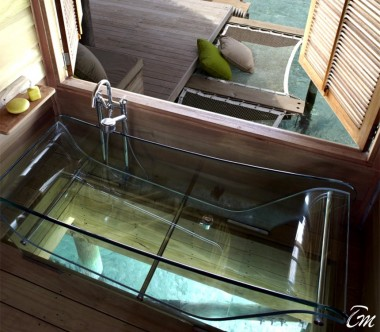 Six Senses Laamu Maldives Lagoon Water Villa Bathroom
