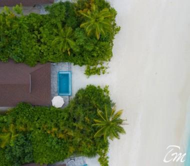 The Standard Huruvalhi Maldives 2 Bedroom Lagoon Beach Villa  Aerial View