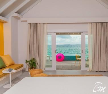 The Standard Huruvalhi Maldives Lagoon Over-water Villa Ocean Face