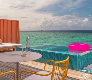 The Standard Huruvalhi Maldives Lagoon Over-water Villa Pool