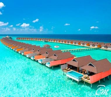 The Standard Huruvalhi Maldives Lagoon  Lagoon Water Villa Exterior