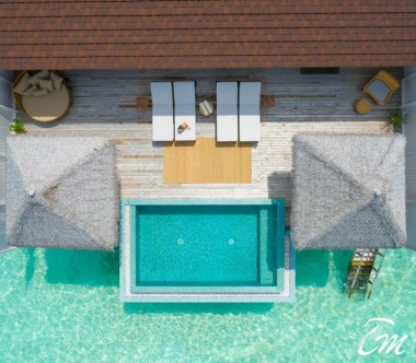 The Standard Huruvalhi Maldives The Standard Residence Aerial View