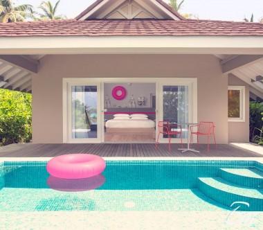 The Standard Huruvalhi Maldives Lagoon Beach Villa Exterior