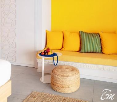 The Standard Huruvalhi Maldives 2 Bedroom Ocean Beach Villa Sofa