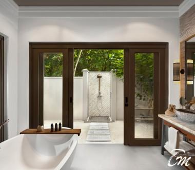 Beach Villa Bathroom - Vakkaru Maldives