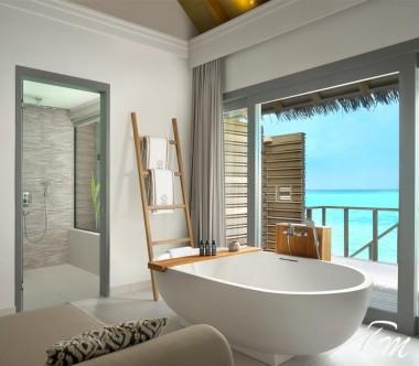 Luxury Over Water Family Pool Villa Bathroom- Vakkaru Maldives