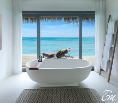 Luxury Over Water Villa Bathroom - Vakkaru Maldives