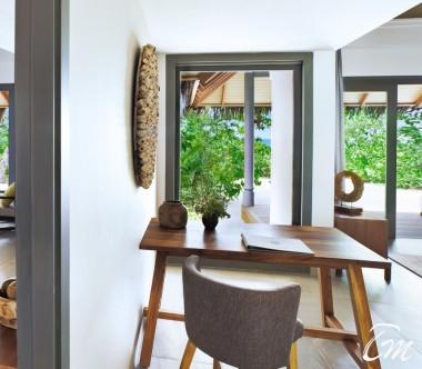 Luxury Two Bedroom Beach Pool Villa Living Area - Vakkaru Maldives