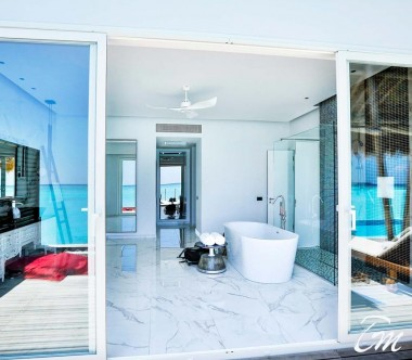 Water Villa with Pool Wash Area- Emerald Maldives Resort And Spa