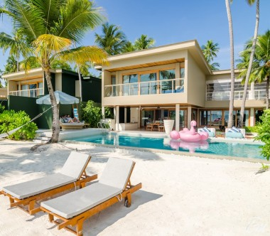 Amilla Fushi Resort and Residences Maldives Beach Residence 4 Bedroom Exterior