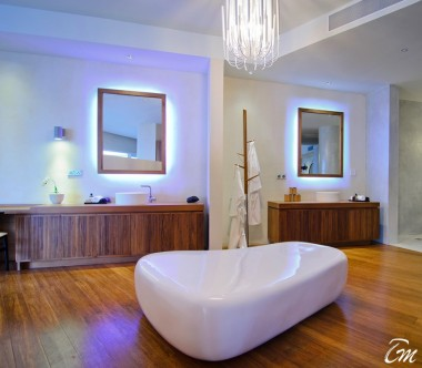 Amilla Fushi Resort and Residences Maldives Ocean Lagoon House Bathroom