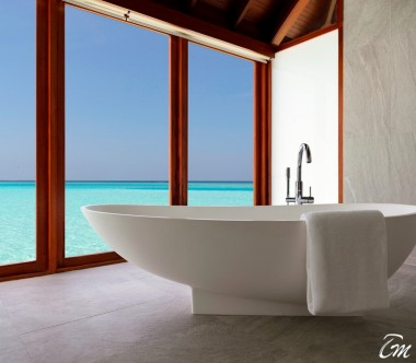 Anantara Dhigu Maldives Resort Sunrise Over Water Suite Bathroom