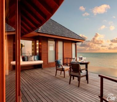 Anantara Dhigu Maldives Resort Sunrise Over Water Suite Exterior