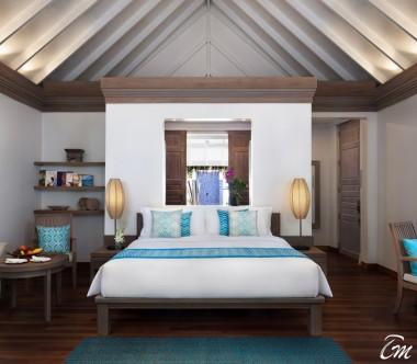 Anantara Dhigu Maldives Resort Sunset Beach Villa Bedroom