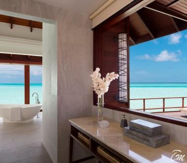 Anantara Dhigu Maldives Resort Sunset Over Water Suite Bathroom