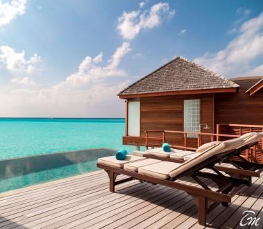 Anantara Dhigu Maldives Resort Sunset Over Water Suite Exterior