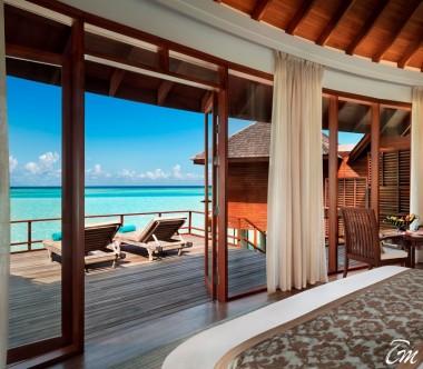 Anantara Dhigu Maldives Resort Sunset Over Water Suite Interior