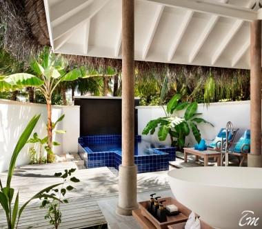 Anantara Dhigu Maldives Resort Sunset Pool Villa Exterior