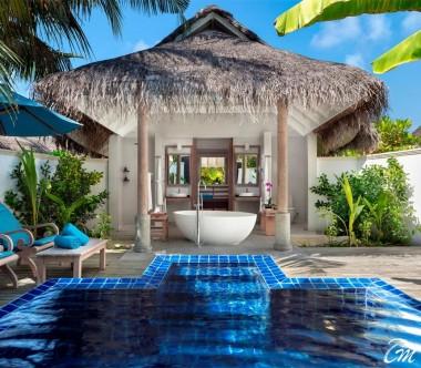 Anantara Dhigu Maldives Resort Sunset Pool Villa Pool And Bathroom