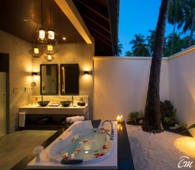 Atmosphere Kanifushi Maldives Sunset Beach Villa Bathroom