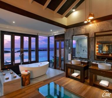 Atmosphere Kanifushi Maldives Water Villa Bathroom