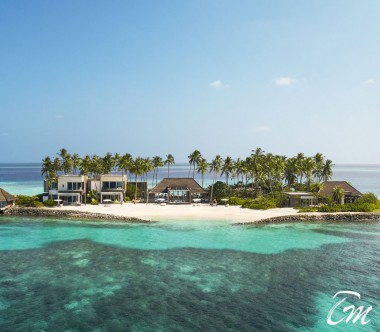 Cheval Blanc Randheli Private Island Arial View