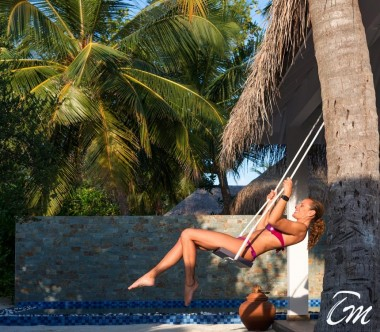 Cocoon Maldives Beach Suites with Pool Swing