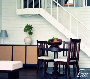 COMO Cocoa Island Maldives Dhoni Loft Suite Living Area