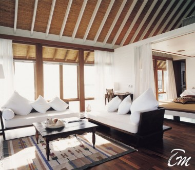 COMO Cocoa Island Maldives One Bedroom Villa Living Room