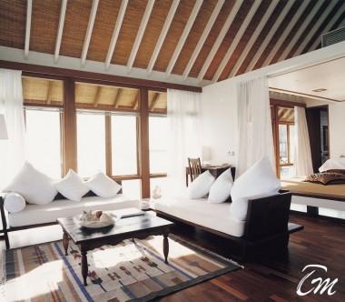 COMO Cocoa Island Maldives One Bedroom Villa Living Room