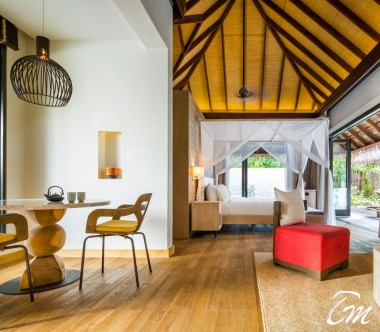 COMO Maalifushi Maldives Beach Suite Living Room