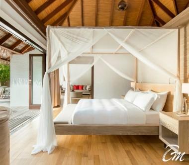 COMO Maalifushi Maldives Beach Villa Bedroom