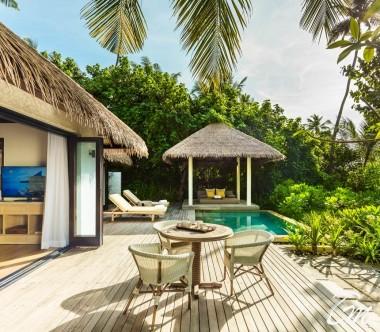 COMO Maalifushi Maldives Beach Villa Exterior Pool Deck