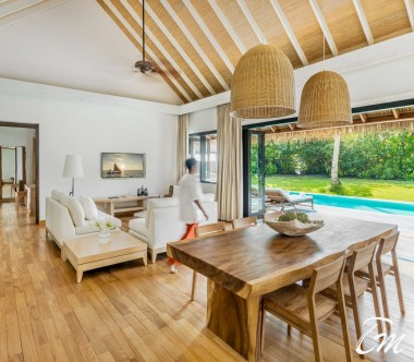 COMO Maalifushi Maldives Maalifushi Beach Villa Living Room